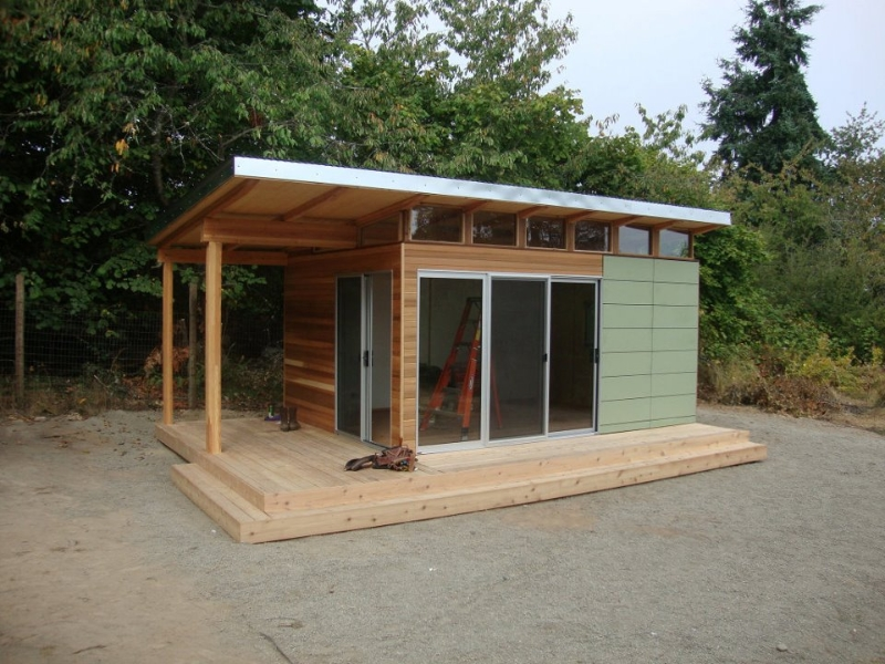 Modern-Shed: Home Office - Space to frame a day ...