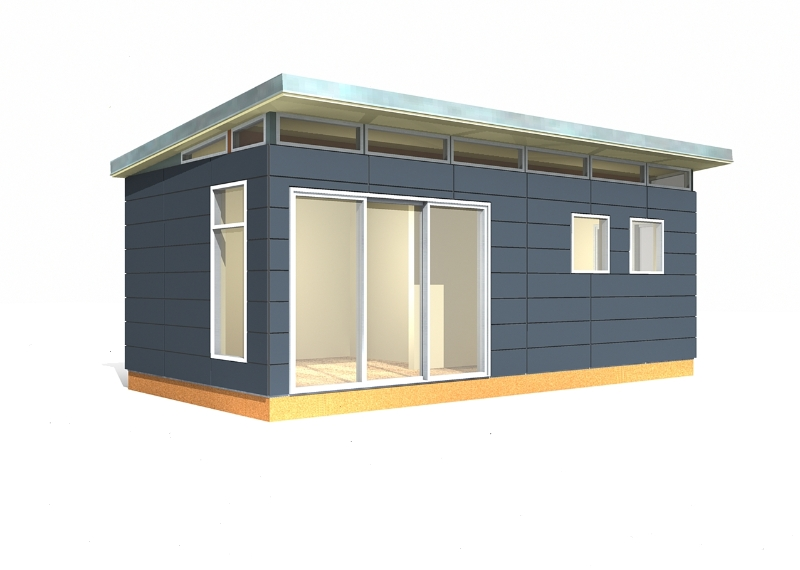 12' x 24' Modern-Shed Prefab Toolshed