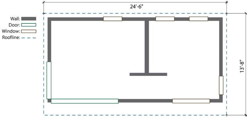 12' x 24' Modern-Shed Prefab Laneway House