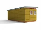 12' x 24' Modern-Shed Prefab Workshop